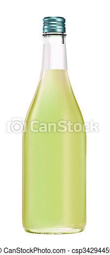 隔離された, びん, アルコール - csp34294455