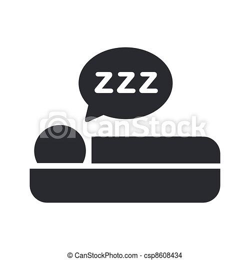 隔離された, イラスト, 単一, ベクトル, 睡眠, アイコン - csp8608434
