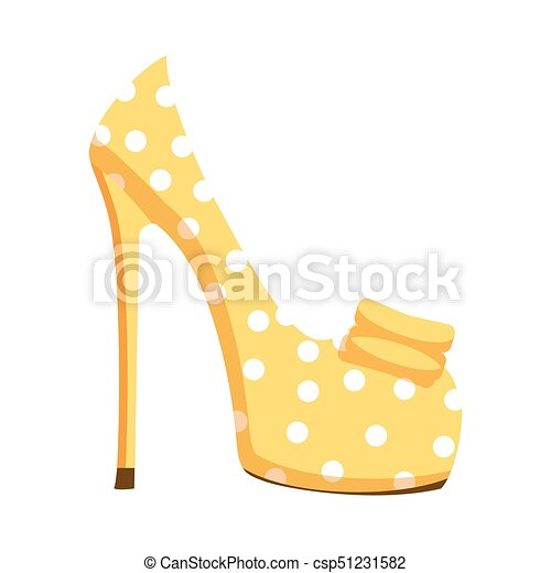 隔離された イラスト 高く ポンプ 靴 かかと 点 夏 Season 靴