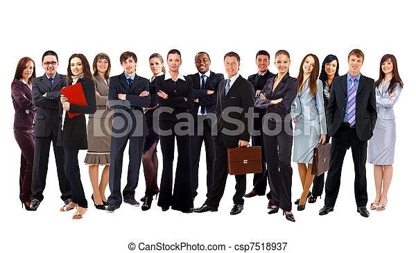 隔離された, 人々。, ビジネス, グループ - csp7518937