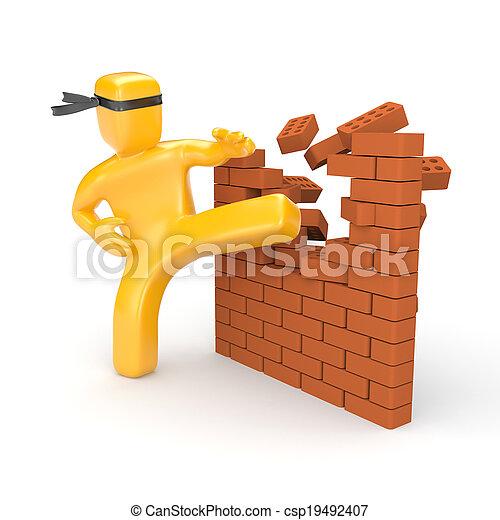 障壁, 壊れる - csp19492407