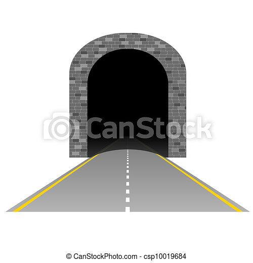 隧道, 路, 插圖, 二 - csp10019684