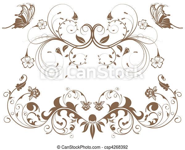 集めなさい, 花, ボーダー - csp4268392