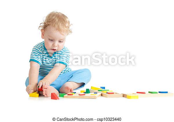 集中される, 偉人, 背景, おもちゃ, 論理名, 興味, 子供, 白, 教育, 遊び - csp10323440