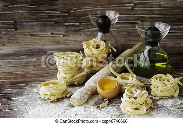 集合, 小麥, 烹調, 集中, 麵粉, 選擇性, 產品, 麵食 - csp46746666