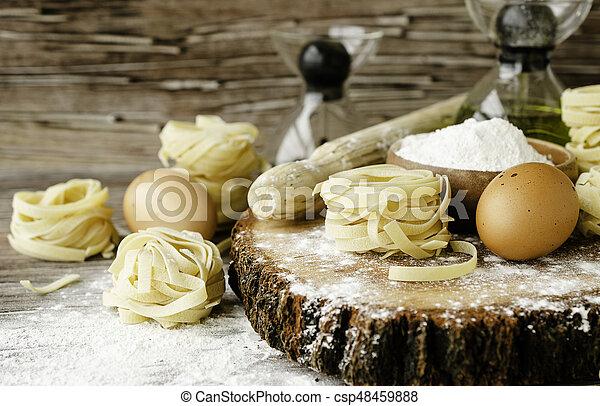集合, 小麥, 烹調, 集中, 麵粉, 選擇性, 產品, 麵食 - csp48459888