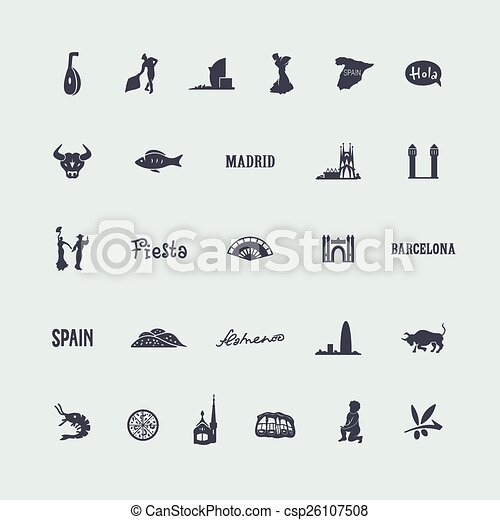 集合, 西班牙, 圖象 - csp26107508