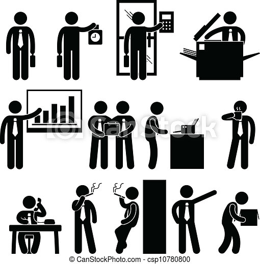 雇员, 商人, 工作, 商业 - csp10780800