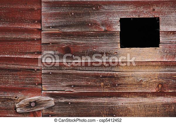 離れ家, 古い, 板, 外気に当って変化した - csp5412452