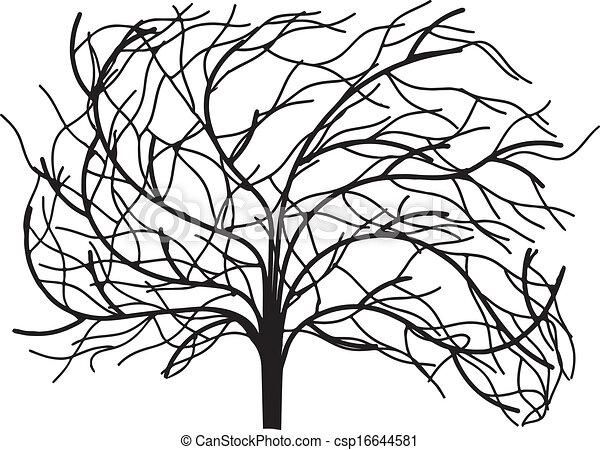 離開, 沒有, 樹 - csp16644581