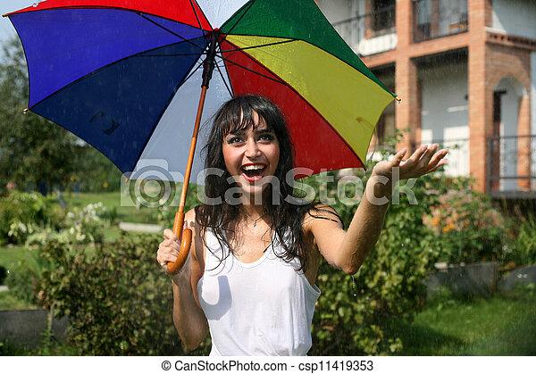雨 - csp11419353