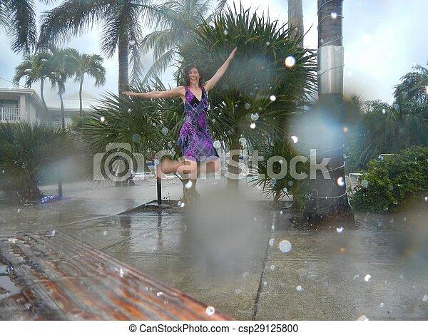 雨, ダンス - csp29125800