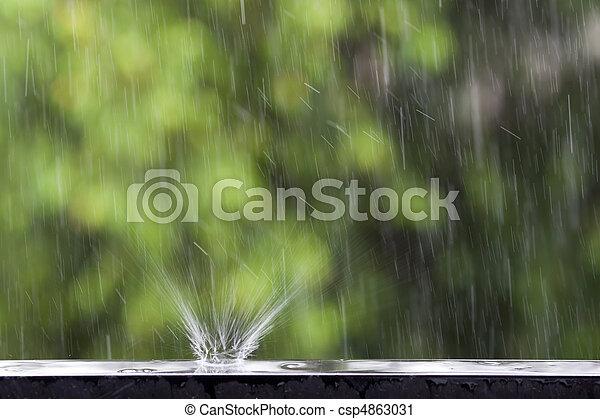雨 - csp4863031