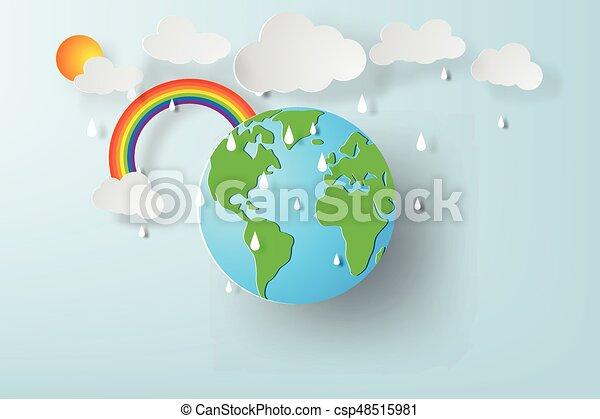 雨 芸術 地球 イラスト 環境 ペーパー 世界 地球 Season 日