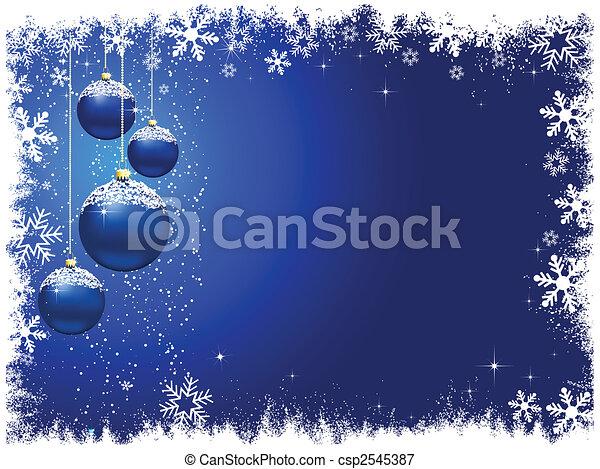 雪が多い, 安っぽい飾り, クリスマス - csp2545387