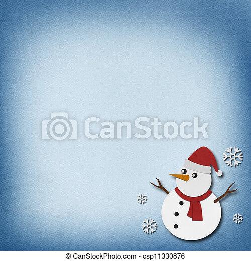 雪だるま, バックグラウンド。, 技能, ペーパー, リサイクルされる - csp11330876