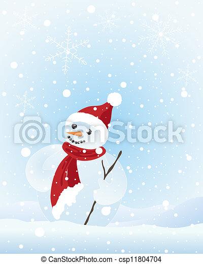 雪だるま - csp11804704
