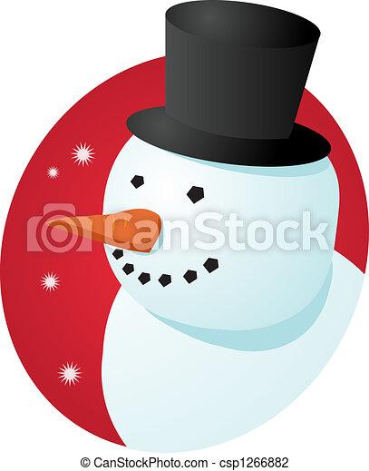 雪だるま, 微笑 - csp1266882