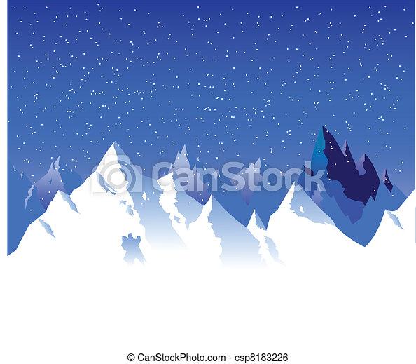 雪白的山 - csp8183226