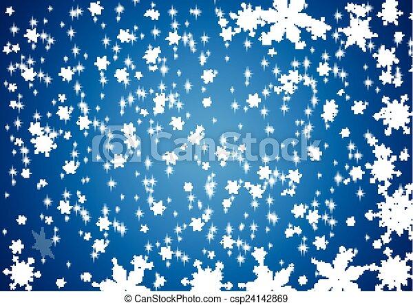雪, 背景 - csp24142869