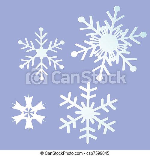 雪, 背景 - csp7599045
