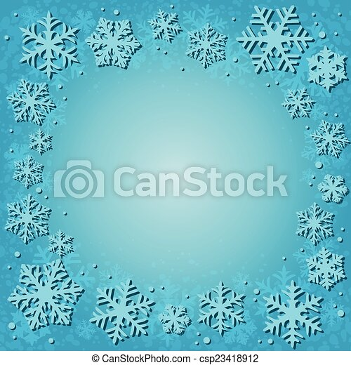 雪, 背景 - csp23418912