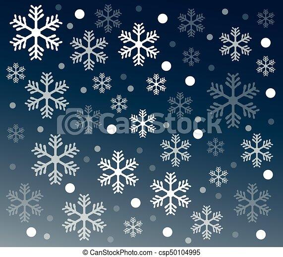 雪, 背景 - csp50104995