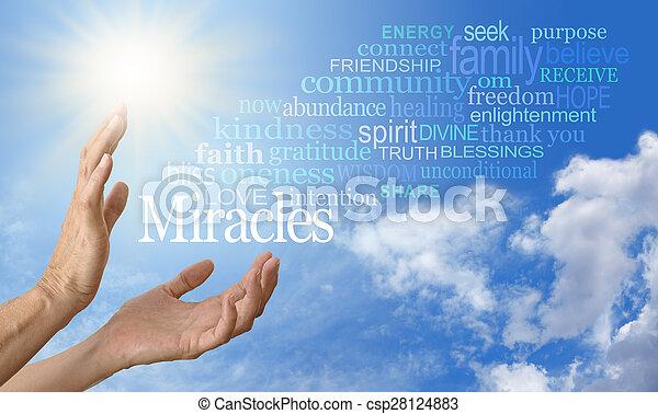 雲, 奇跡, 労働者, 単語 - csp28124883