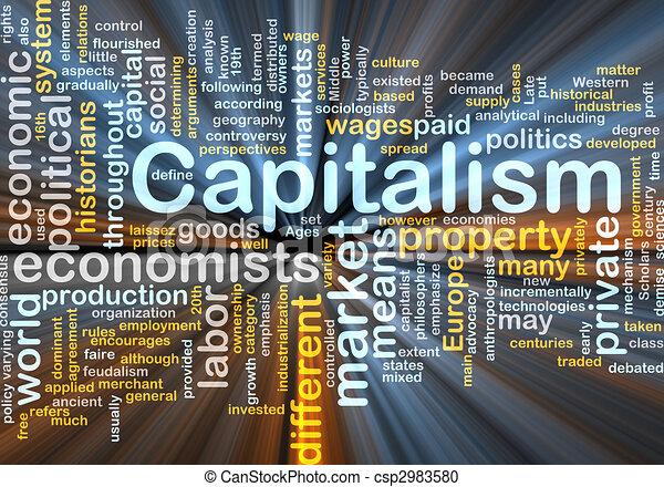 雲, 白熱, 管理, 資本主義, 単語 - csp2983580