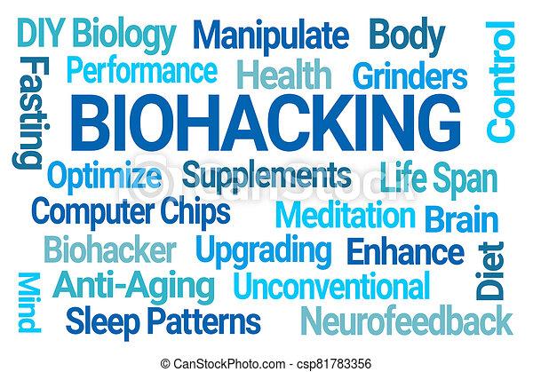 雲, biohacking, 単語 - csp81783356