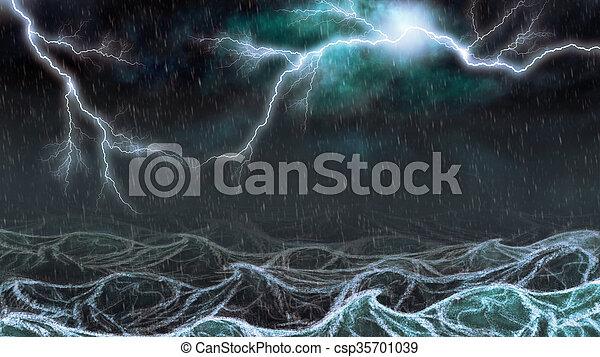 雷雨, 海 - csp35701039