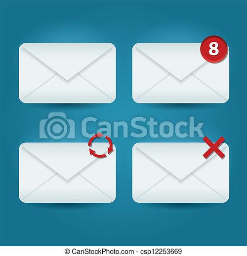 電子メール, アイコン - csp12253669
