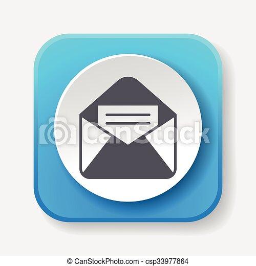 電子メール, アイコン - csp33977864