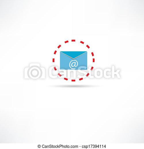 電子メール, アイコン - csp17394114