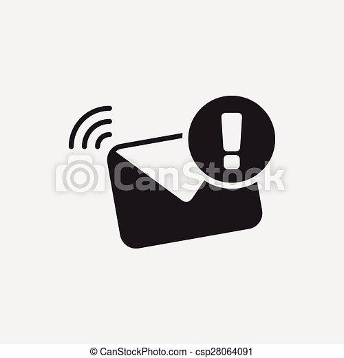 電子メール, アイコン - csp28064091