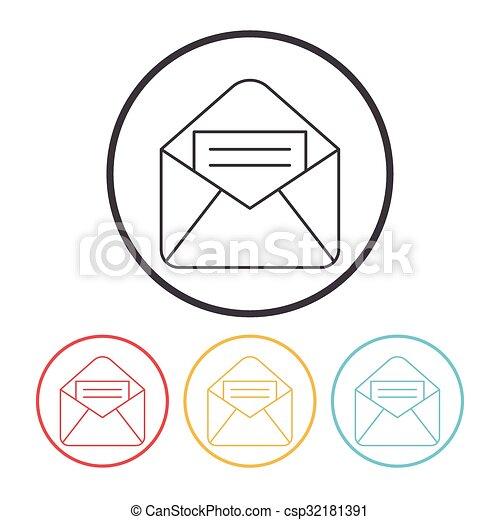 電子メール, アイコン - csp32181391