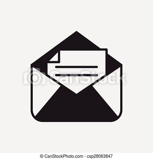 電子メール, アイコン - csp28063847