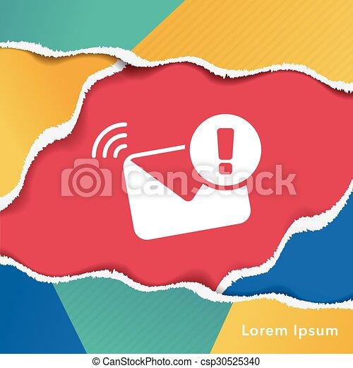 電子メール, アイコン - csp30525340