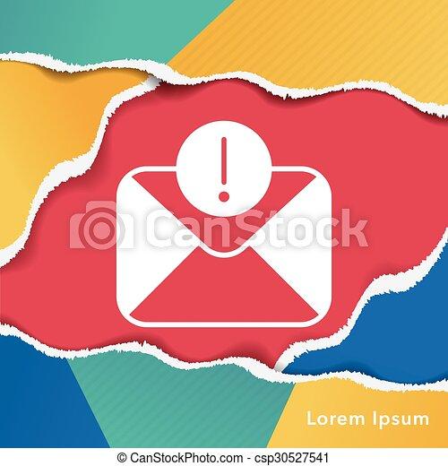 電子メール, アイコン - csp30527541