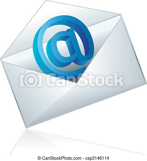 電子メール, アイコン - csp3146114