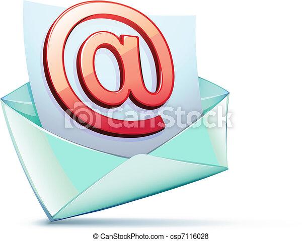 電子メール, シンボル - csp7116028