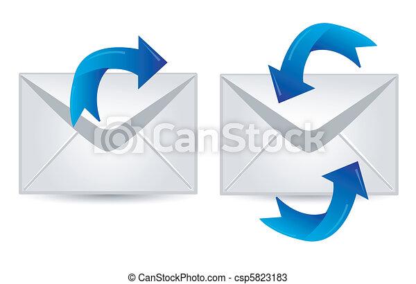 電子メール, セット - csp5823183