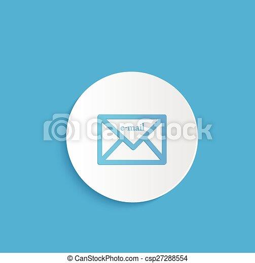 電子メール, ボタン - csp27288554