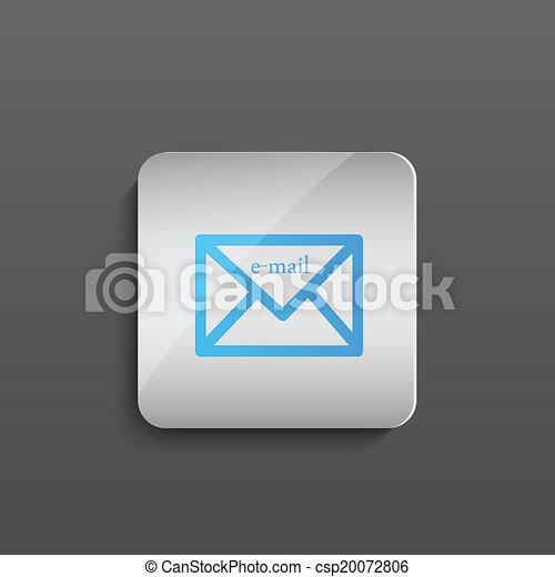 電子メール, ボタン - csp20072806