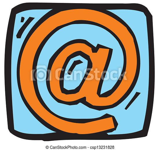 電子メール, 印 - csp13231828