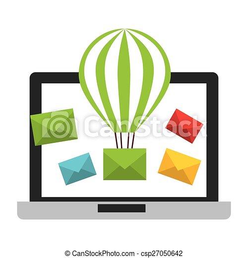 電子メール, 概念 - csp27050642
