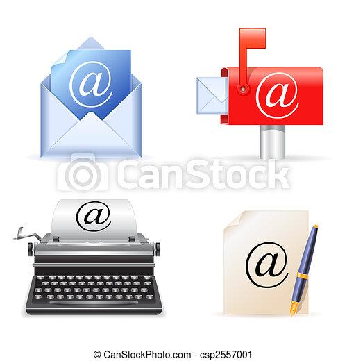 電子メール, icons. - csp2557001
