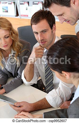 電子, タブレット, ミーティング, オフィス, ビジネス - csp9952607