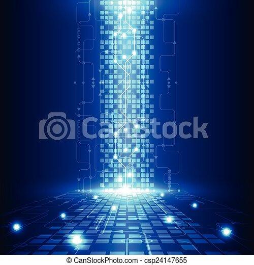 電気である, 遠距離通信, 抽象的, 工学, ベクトル, 背景, 未来, 技術 - csp24147655