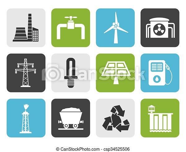 電気, 産業, アイコン - csp34525506